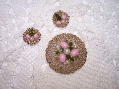 Vintage Demi Parure Jewelry Set Earrings & by ConnisCollections