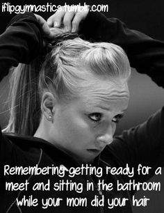 Remembering :')......hehe mum used to plait my hair for gym..now that I'm all grown up I attempt to do a huge quiff by myself for cheer^^