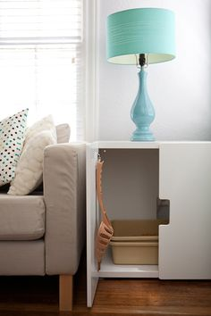 IKEA Stuva is an awesome storage furniture for kids room but it can be hacked in a very nice way. Here is Stuva litter box hack