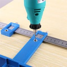 Feature: - Woodworking Cabinet Handle Hole Locator - The quick-release Drill Guide Block makes set up simple - Front-mounted clamp handle makes clamping easy -