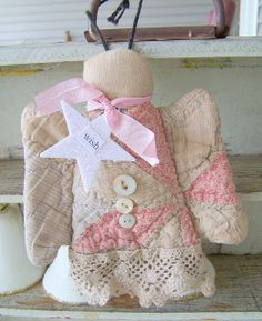 Shabby Cutter Quilt Angel with Glitter Star | Flickr - Photo Sharing!