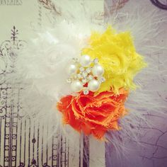 Over the Top Candy Corn Halloween Hair Clip for Baby Girl, Toddler Girl, Girl on Etsy, $7.75