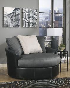 Masoli - Cobblestone - Oversized Swivel Accent Chair
