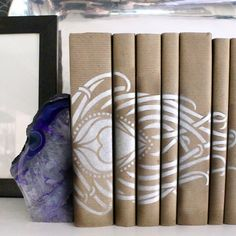 the HUNTED INTERIOR: Stenciled Book Spines