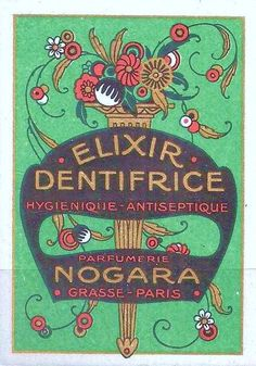 art deco label