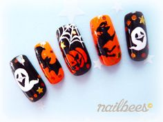 Check out our Gallery of Halloween Nail Designs and bee inspired! Halloween Nail Designs, Halloween Nails, Ten Nails, Witchy Nails, Gothic Nails, Strong Nails, Clear Nails, Toe Nail Designs, Toe Nail Art