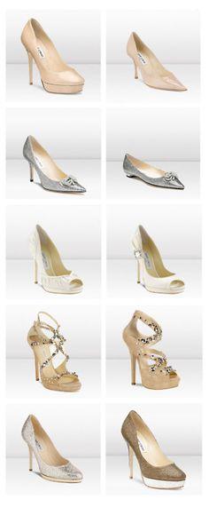 ¿has pensado ya cómo serán tus zapatos?    fuckyeahweddingideas:    2011 Jimmy Choo Bridal Shoe Collection
