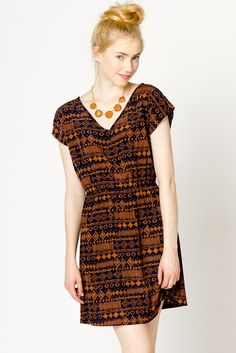 Aztec Print Dress // a-thread