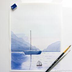 #watercolor #boat