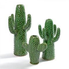 Small Ceramic Cactus Vase - Trouva
