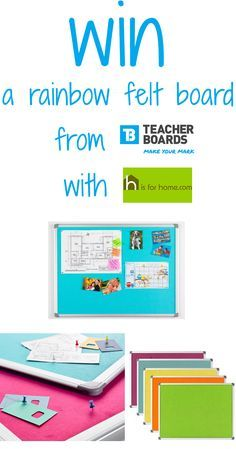 #Win a @teacherboards rainbow felt noticeboard with @hisforhome Click on the link to enter=> 4ho.me/Tboards #competition #comp #giveaway