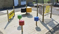 The Junk Orchestra at Broadford Primary — Creative STAR Learning Natural Outdoor Playground, Diy Playground, Outdoor Play Areas, Outdoor Fun, Wooden Music Box, Sensory Garden, Outdoor Learning, Music Wall, Festival Decorations