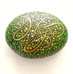 Inspirational Word Hope Stone / Painted by ArtToHaveAndToHold