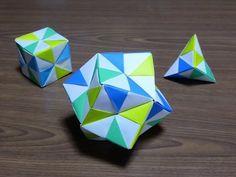 【折り紙】くすだま・24面体(ユニット折り紙12枚・多面体)の折り方 origami. Decorative banner dropped from the ceiling - YouTube