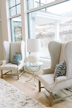 Living Room Furniture Ideas. Wingback Chairs. #LivingRoomFurniture #WingbackChairs  #LivingRoomWingbackChairs  Four Chairs Furniture.
