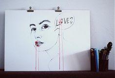 Sa pýtam! by SantoSfery - SAShE.sk - Handmade Kresby