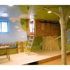 """Tree"" could hide I beam support. Kids Indoor Play Sets Design, Pictures, Remodel, Decor and Ideas - page 9"