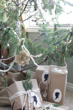 wrap fake presents under the tree ... Holiday House Walk 2012 {Welcome To Our Home} | Jeanne Oliver