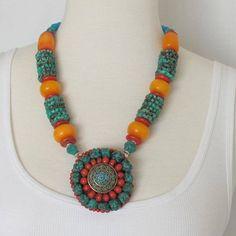 Ethnic  Nepal Beaded Necklace | nepalbeads - Jewelry on ArtFire