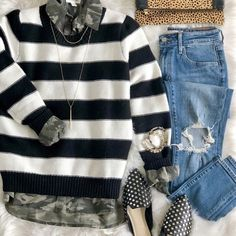 How to Mix Patterns - All About Pattern Play! Mom Outfits, Pattern Mixing, Mixing Prints, Happy Saturday, This Is Us, Camo, Kate Spade, Stripes, Room Decor