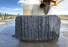 """Jake Barkley, principal founder of Kasota Stone, describes the company's Superior Northern granite as """"a deposit of rare quality."""" Stone Quarry, Black Granite, Lake Superior, Sustainable Design, Geology, The Rock, Minnesota, Natural Stones, Discovery"""