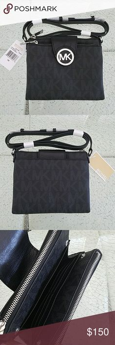 Michael Kors Fulton Crossbody Bag New with tags Michael Kors purse. It has two zippers and a center section can hold up to 6 cards MICHAEL Michael Kors Bags Crossbody Bags
