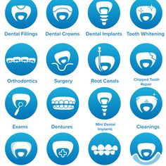 Create dental icons for our updated website by MAM2