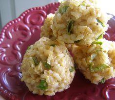 Baked Brown Rice Balls