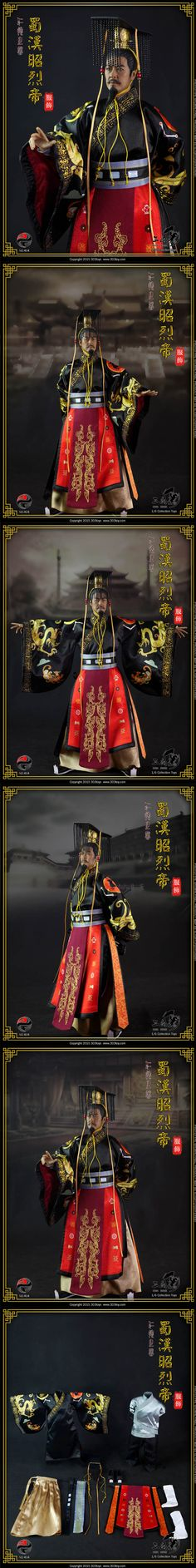 [303TOYS 1/6 NO:404 Han Costume-China emperor of the Han Dynasty dress suit]