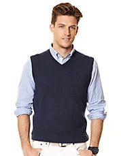 Merino Birdseye Sweater Vest. I've never met a guy who doesn't ...