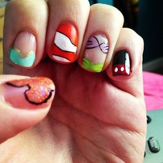 Disney nail art! would do this if I could!