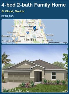 4-bed 2-bath Family Home in St Cloud, Florida ►$213,155 #PropertyForSale #RealEstate #Florida http://florida-magic.com/properties/75127-family-home-for-sale-in-st-cloud-florida-with-4-bedroom-2-bathroom