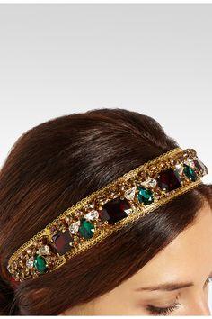 Dolce & Gabbana|Gold-plated Swarovski crystal headband|NET-A-PORTER.COM