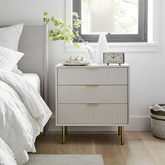 Small Furniture, Furniture Decor, Furniture Design, Refurbished Furniture, Contemporary Furniture, Modern Contemporary, Reclaimed Wood Nightstand, White Nightstand, Nightstand Ideas