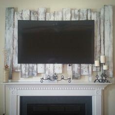 Pallet tv backdrop