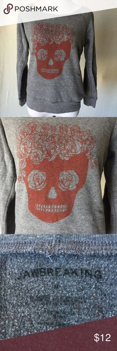 "Jawbreaking ""wishful thinking"" skull sweatshirt Super comfy sweatshirt with cute skull design on front. Size medium, only worn a few times! Jawbreaking Tops Sweatshirts & Hoodies"