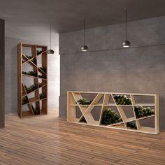 Weinregal ODIN aus Eichen Holz massiv