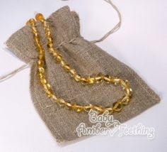 Gorgeous (Champagne) amber teething necklace