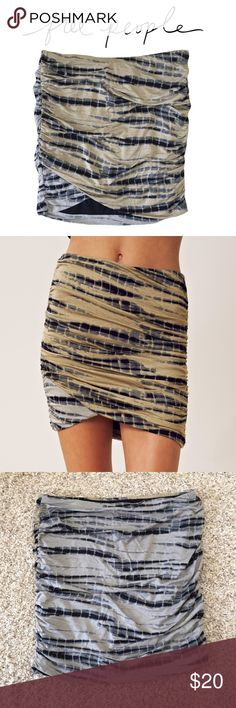 """Free People Tye Dye Mini Excellent condition Tye Dye ruched mini skirt from free People. Very stretchy and lined. Length is approx. 15"""" from top to bottom. Free People Skirts Mini"""