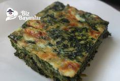 Hamursuz Ispanaklı Börek Tarifi Bizbayanlar.com #Ispanak, #KabartmaTozu, #Peynir, #Soğan, #Un, #Yogurt, #Yumurta, #Zeytinyağ,#BörekTarifleri, #DiyetYemekTarifleri http://bizbayanlar.com/yemek-tarifleri/diyet-yemekleri/diyet-yemek-tarifleri/hamursuz-ispanakli-borek-tarifi/
