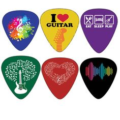 Creanoso Awesome Guitar Picks with assorted modern design (12-pack) PREMIUM…