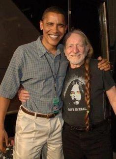 President Obama & Willie Nelson