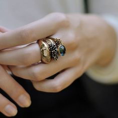 We love the look of stacking multiple rings on one finger. Take a look at some of our options: http://www.custommade.com/search/?q=stackable+ring