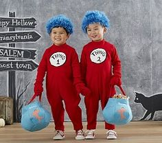 Sale on Toddler Dr. Seuss's™ Thing 1 and Thing 2 Costume - Blue Kangaroo Sibling Halloween Costumes, Twin Halloween, Baby Costumes, Cool Costumes, Costume Ideas, Halloween 2016, Halloween Inspo, Halloween Night, Halloween Stuff