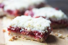These cherry pie bars are made with a gooey cherry pie filling and a simple 3 ingredient crust. Your whole family will love these!
