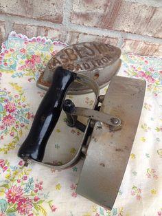 Antique Asbestos Sad Iron - Removable Case - Heavy Cast Iron / Metal Iron on Etsy, $17.95