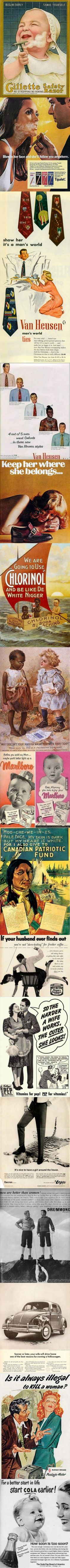 Some offensive ads that would be banned today