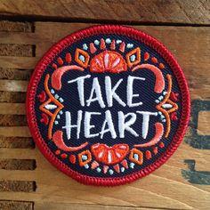 Take Heart Patch by FrogandToadPress on Etsy