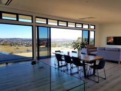 A young couples home perched high on the hill taking in the stunning views across the valley and town. Young Couples, Stunning View, Home Art, House Plans, This Is Us, In This Moment, How To Plan, Building, Table