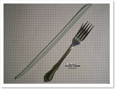 making a perfect bow with a fork
